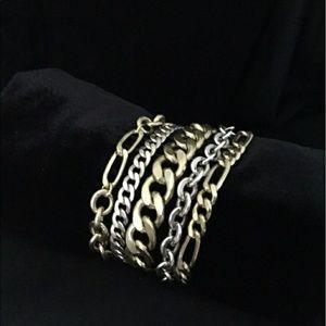 Silpada KR Tough Luxe Multi Chain Bracelet. Nwot